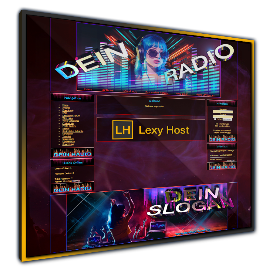 LH_Dj Webradio Design