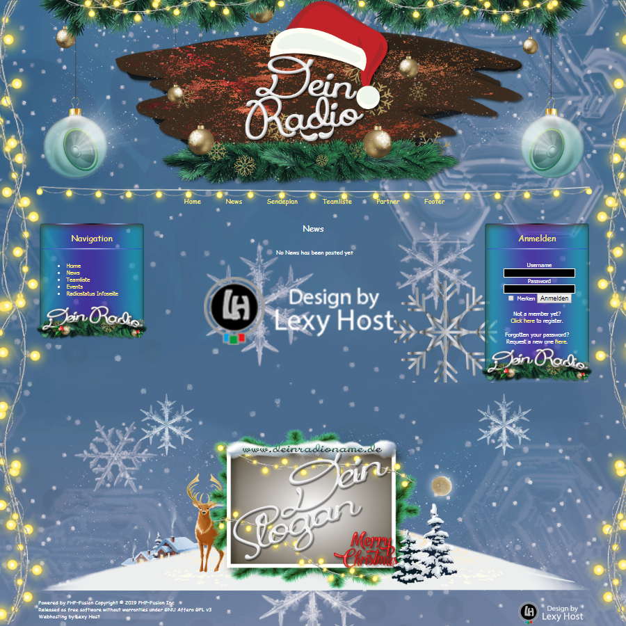 LH_ChristmasBlue Designed by Lexy Host