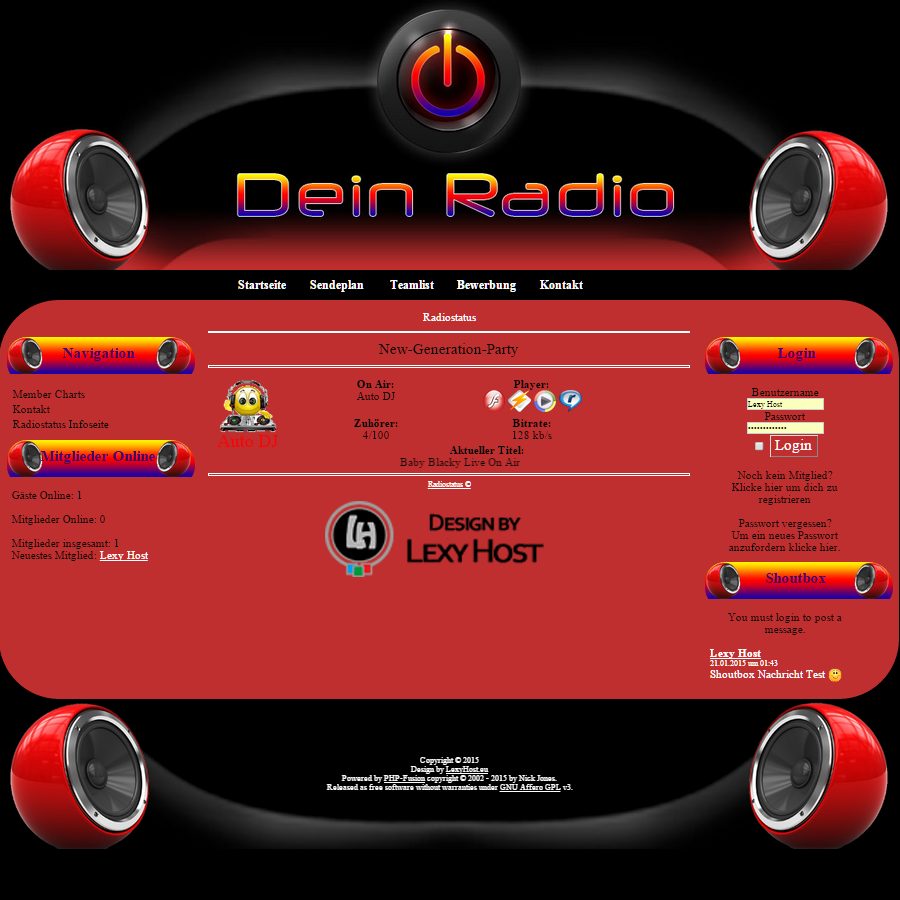 LH_PowerRadio Designed by Lexy Host