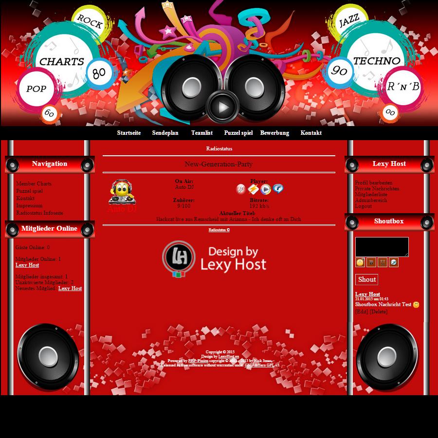 LH_RedRadio Designed by Lexy Host